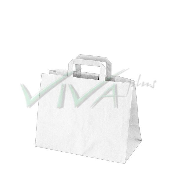 1764679ee Papierové tašky 32x17 x 25 cm biele [50 ks]